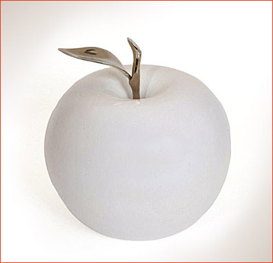 Ceramic Apples With Silver Stems All Sizes Brazilian